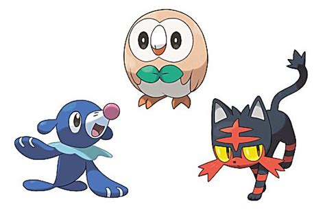 these fan made pokemon sun and moon starter evolutions