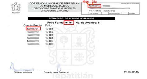 documentos para refrendo 2016 morelos pago en linea refrendo 2016 morelos catastro tepatitl 225 n