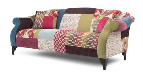 Patchwork Furniture Uk - shout maxi sofa shout patchwork dfs