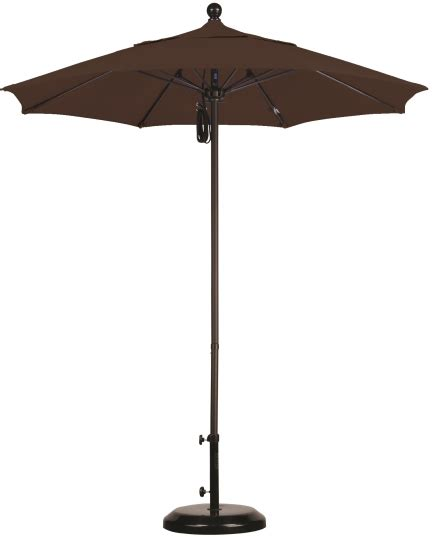 7 5 sunbrella aa aluminum patio umbrella