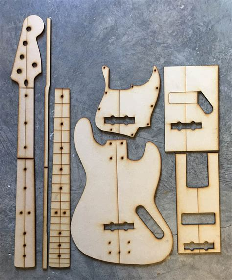guitar building templates 5 string jazz bass luthier tools