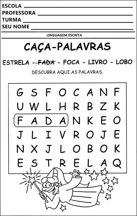 A Arte de Educar: ATIVIDADES DE CAÇA PALAVRAS E PALAVRAS