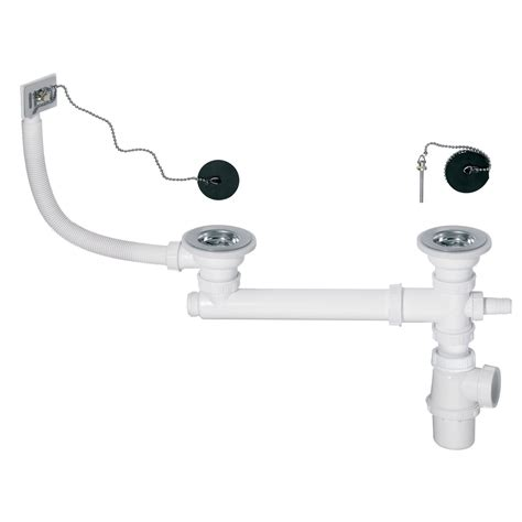Evier Hygena by Vidage D 233 Vier Avec Siphon Evier 2 Cuves Diam 60 Mm