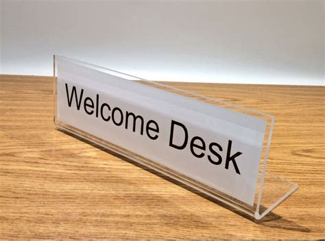 1000 Images About Freestanding Desk Signs On Pinterest Reception Desk Signs
