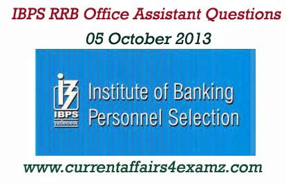 ibps rrb office assistant 05 october 2013 morning