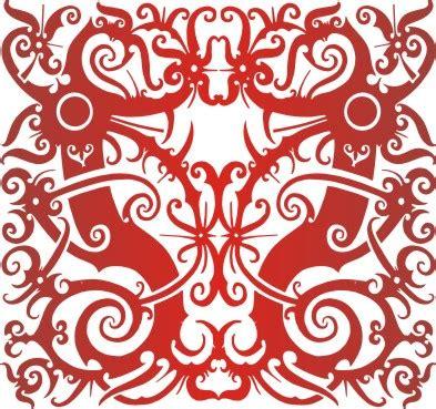 wallpaper batik kaltim m01 motifdayak