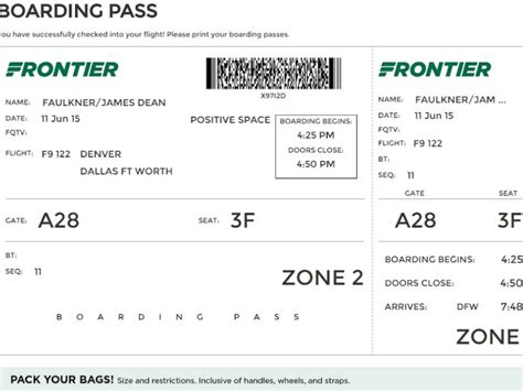 why frontier airlines is removing departure time from