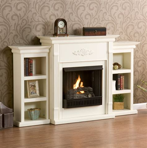 fireplaces with bookshelves 70 25 quot martin fredricksburg gel fireplace w