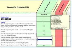 request for proposal rfp templates software