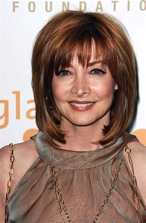 hairstyles with bangs for women 50 yrs old shoulder length layered hair for older woman target