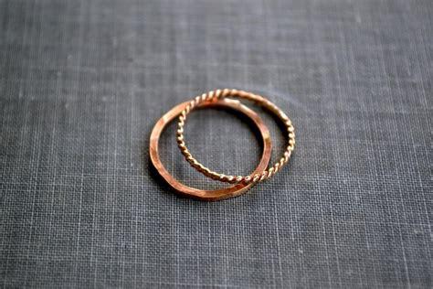 gold stacking rings set of 2