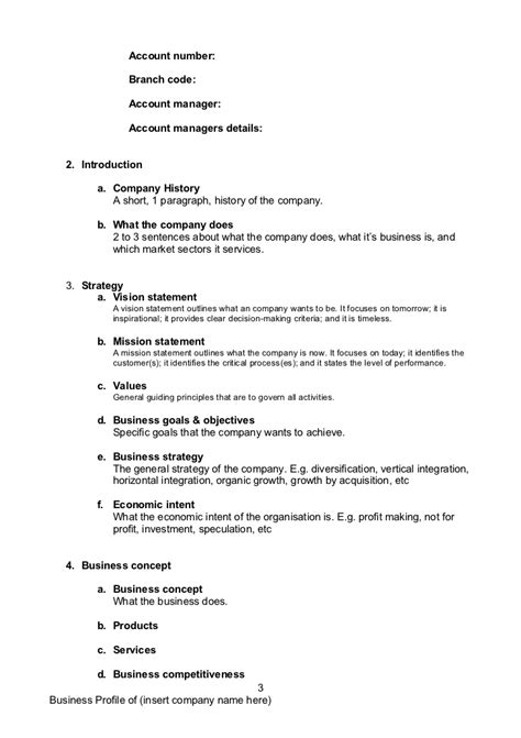 Business Profile Template Doc construction company resume sle explanatory best