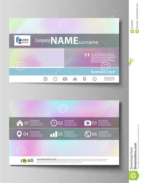 holographic cards templates free business card templates easy editable layout abstract