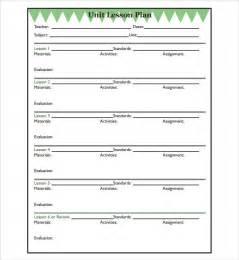 sample unit lesson plan 7 documents in pdf word