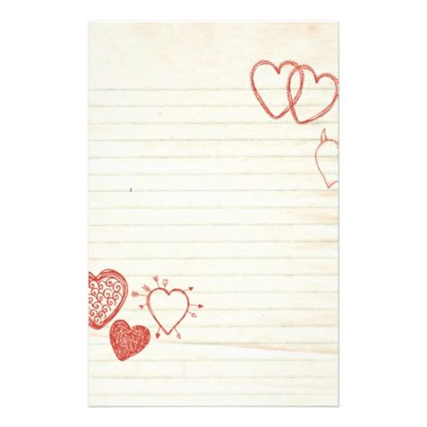 doodle notepad love letter stationery zazzlecomau
