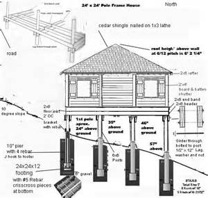 Floor Plans For Sloped Lots pier and beam cabin foundation construction