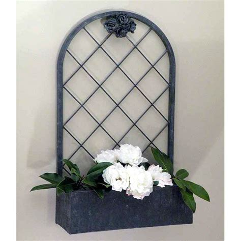 Wrought Iron Wall Planter by Wrought Iron The Nash Planter