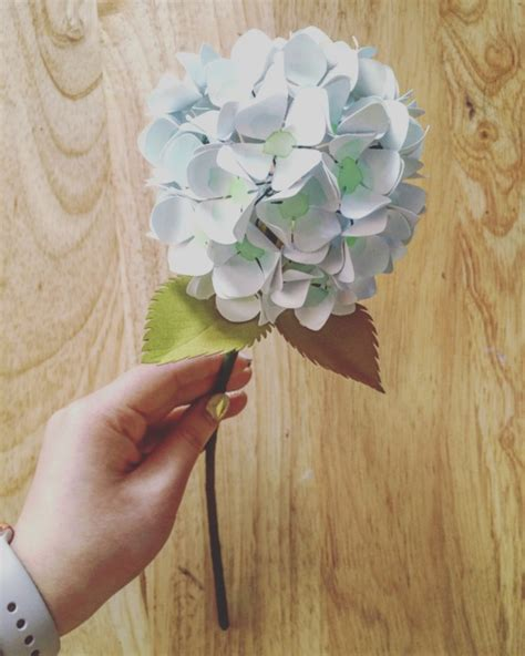 Hydrangea Paper Flower Bloombox paper hydrangeas tutorial only just becoming