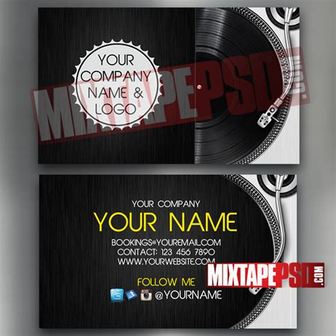 dj card template dj business card template 8 mixtapepsd
