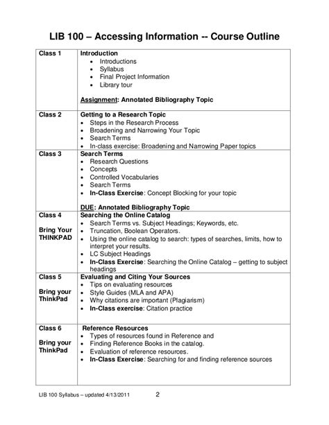 high school syllabus template lib100 syllabus template