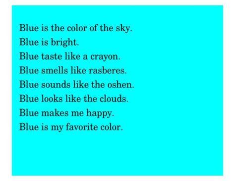 color poem template color poems search poetry poem