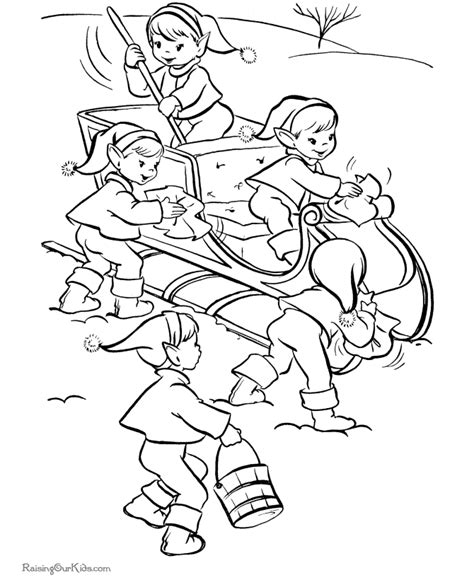 coloring pages elves santa vintage christmas coloring pages coloring home