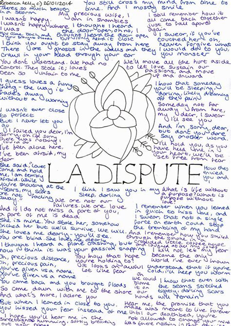 La Dispute A Letter Lyrics Meaning La Dispute Lyrics By Becksbeck On Deviantart