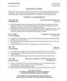 Sle Cover Letter For Business Development Manager by Business Developer Resume Business Development Manager Cv Resume For Business Development Resume