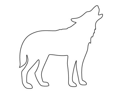 wolf template howling wolf outline www imgkid the image kid has it