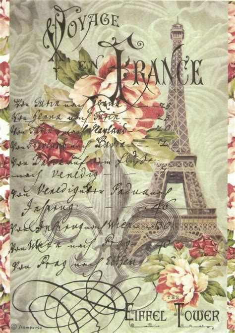 Decoupage L - rice paper for decoupage scrapbook sheet craft paper
