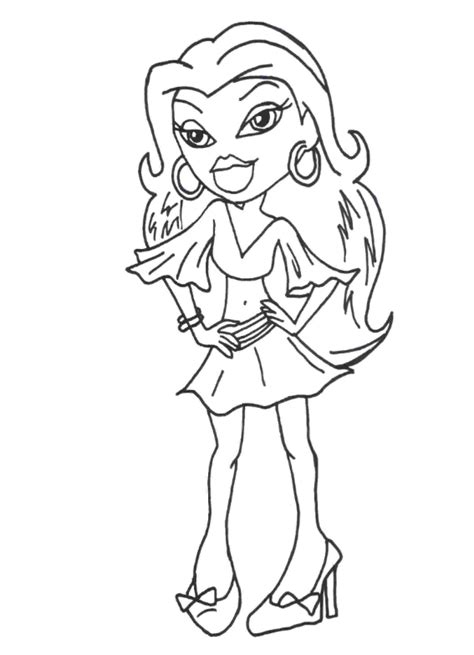 Bratz Colouring Pages   118 Character Paintable Sheets