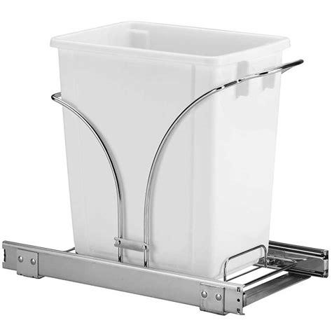Trash Can Slider Cabinet by Sliding Cabinet Trash Can 20 Quart In Cabinet Trash Cans