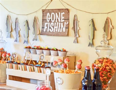gone fishin party fishing party ideas - Fishing Boat Party Ideas