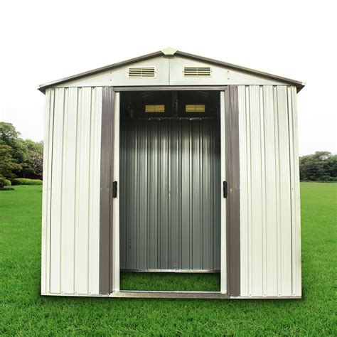 outdoor steel garden storage utility tool shed