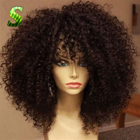 black human curly fall 150 density kinky curly full lace wig brazilian full lace