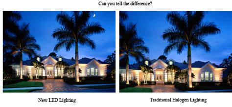 Led Vs Halogen Landscape Lighting - the superior difference outdoor lighting perspectives makes in tampa outdoor lighting