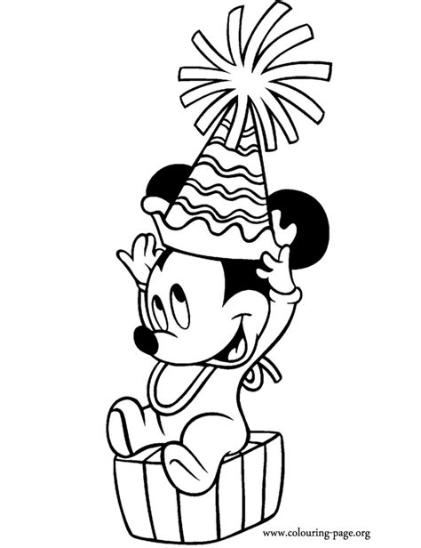 mickey mouse birthday coloring pages baby mickey mouse coloring pages coloring home