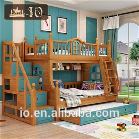 kids double bed 6226 hot selling kids double deck bed with classical warmly ladder and booksheklf bunk