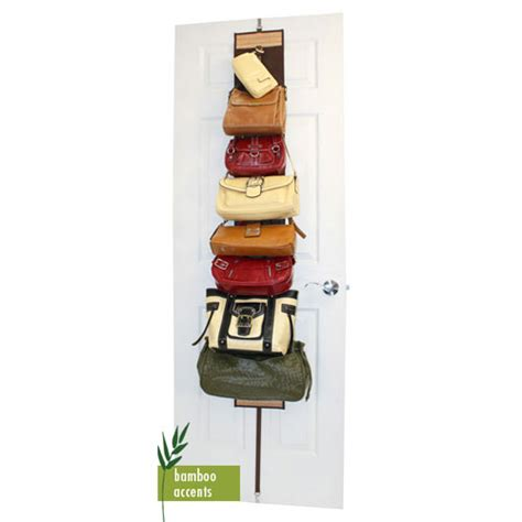 The Door Purse Rack by The Door Purse Rack Bamboo In Wall And Door Storage