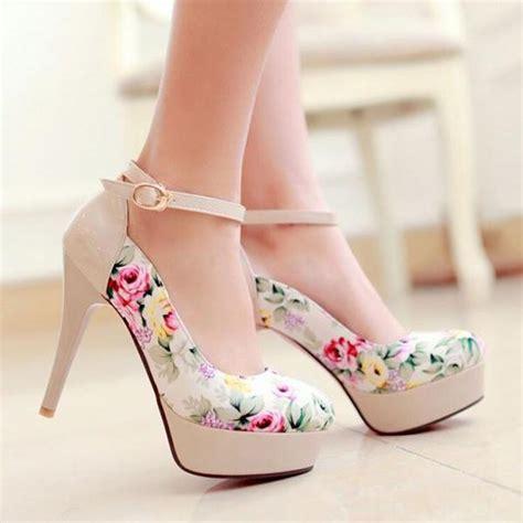 cutest high heels lovely flower print high heels high heels