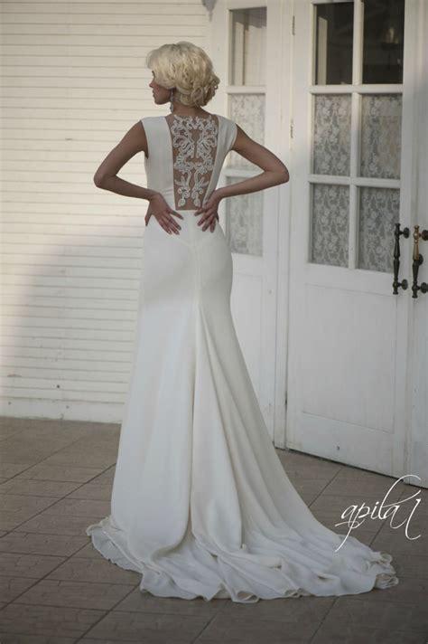 Wedding Dresses Handmade - wedding dress ivory wedding gown with open back
