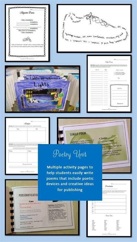 re created a poetic walk through the gospel of books poetry unit activity pages that walk students through