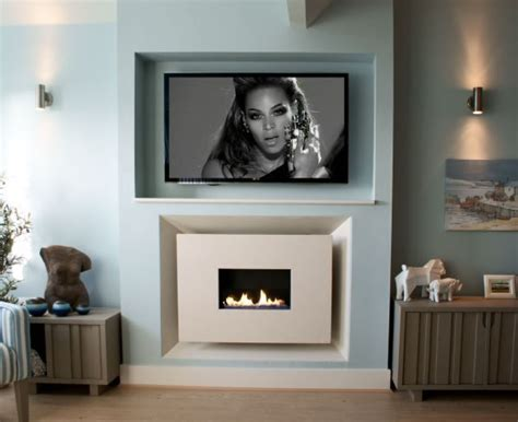 recessed tv on tv gas fireplaces and tv built in