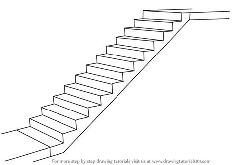 Treppen Zeichnen Lernen learn how to draw staircase everyday objects step by