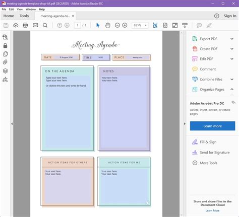 Printable Meeting Agenda Template Editable House Of Quality Template