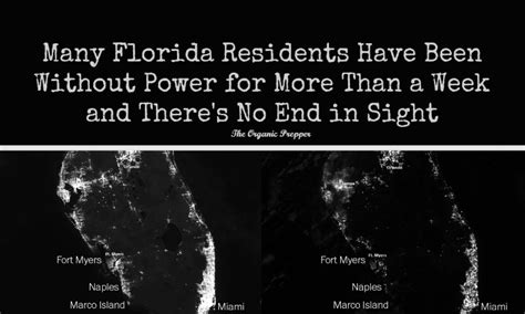 no end in sight for florida residents are still without power the organic