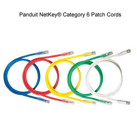 Patch Cord Panduit panduit netkey 174 category 6 patch cords cableorganizer