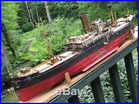 toy boat steam engine gigantic antique 29 tin steam engine powered ship toy boat