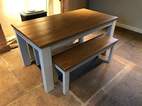 dining table bench set  hartford painted bench set