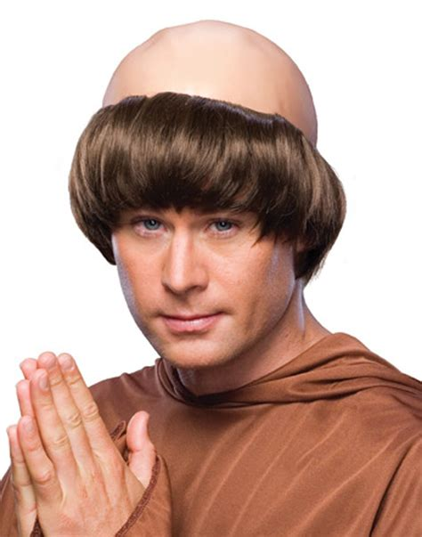 wigs for bald spots brown bald spot balding monk friar tuck priest medieval